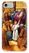 Jesus As A Child IPhone Case by John Lautermilch