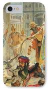 Jesus Removing The Money Lenders From The Temple IPhone Case by James Edwin McConnell