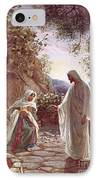 Jesus Revealing Himself To Mary Magdalene IPhone Case