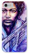 Jimi IPhone Case by Lloyd DeBerry