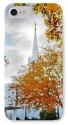 Jordan River Temple IPhone Case by La Rae  Roberts