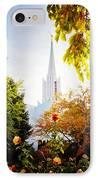 Jordan River Temple Rose IPhone Case by La Rae  Roberts