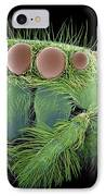 Jumping Spider, Sem IPhone Case by Susumu Nishinaga