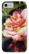 Karma Camellia IPhone Case by Andrew King