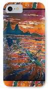 Kayaking Serenity - Bordered IPhone Case