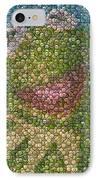 Kermit Mt. Dew Bottle Cap Mosaic IPhone Case by Paul Van Scott