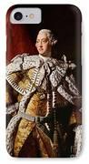 King George IIi IPhone Case by Allan Ramsay