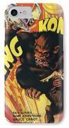 King Kong IPhone Case by Georgia Fowler