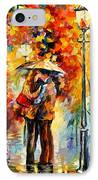 Kiss Under The Rain IPhone Case by Leonid Afremov