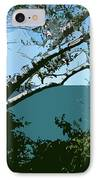 Lake Through The Trees IPhone Case by Michelle Calkins