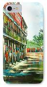 Late Afternoon On The Square IPhone Case by Dianne Parks