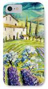 Lavender Hills Tuscany By Prankearts Fine Arts IPhone Case
