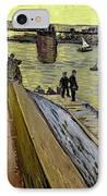 Le Pont De Trinquetaille In Arles IPhone Case by Vincent Van Gogh