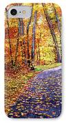 Leaf Covered Road IPhone Case by David Lloyd Glover