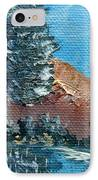 Leaning Pine Tree Landscape IPhone Case by Jera Sky