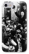 Lenin At Finland Station IPhone Case by Granger