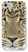 Leopard Panthera Pardus Female IPhone Case by Martin Van Lokven