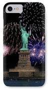 Liberty Fireworks 1 IPhone Case by BuffaloWorks Photography