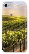 Lighted Vineyard IPhone Case by Sharon Foster