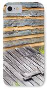 Log Cabin Storm Cellar Door IPhone Case by Paul W Faust -  Impressions of Light
