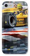 Lotus 99t 1987 Ayrton Senna IPhone Case by Yuriy  Shevchuk