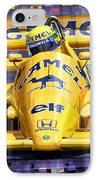 Lotus 99t Spa 1987 Ayrton Senna IPhone Case by Yuriy  Shevchuk