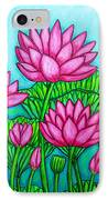 Lotus Bliss II IPhone Case by Lisa  Lorenz