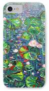Lotus Flower Water Lily Lily Pads Painting IPhone Case