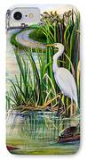 Louisiana Wetlands IPhone Case by Elaine Hodges