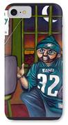 Mad Philly Fan In Texas IPhone Case