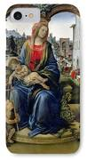 Madonna And Child IPhone Case by Filippino Lippi