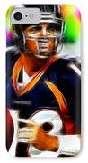 Magical Peyton Manning Borncos IPhone Case by Paul Van Scott