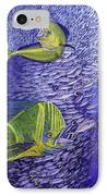 Mahi Mahi Original Oil Painting 24x30in IPhone Case by Manuel Lopez