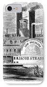 Mail Steamboat, 1854. /nthe Louisville Mail Company Steamboat Jacob Strader. Wood Engraving, 1854 IPhone Case