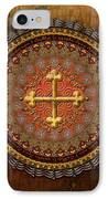 Mandala Armenian Cross IPhone Case by Bedros Awak