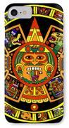 Mandala Azteca IPhone Case by Roberto Valdes Sanchez