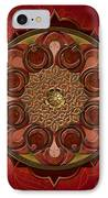 Mandala Flames Sp IPhone Case by Bedros Awak