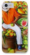 Manuel The Caribbean Fruit Vendor  IPhone Case