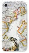 Map Of America, 1779 IPhone Case