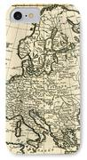 Map Of Europe IPhone Case by Guillaume Raynal