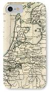 Map Of Holland Including The Seven United Provinces Of The Low Countries IPhone Case