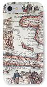 Map Of The Island Of Haiti IPhone Case