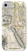 Map Of The Middle East From The Sixteenth Century IPhone Case by Abraham Ortelius
