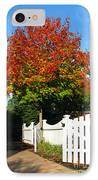 Maple And Picket Fence IPhone Case by Olivier Le Queinec