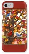 Maple Tree Marvel - Bird Painting IPhone Case