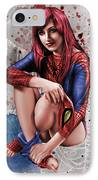 Mary Jane Parker IPhone Case by Pete Tapang