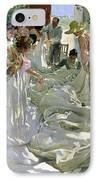 Mending The Sail IPhone Case by Joaquin Sorolla y Bastida