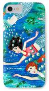 Mermaid Race IPhone Case by Sushila Burgess
