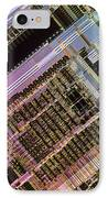 Microprocessors IPhone Case by Michael W. Davidson