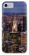 Midtown Skyline At Dusk IPhone Case by Randy Aveille